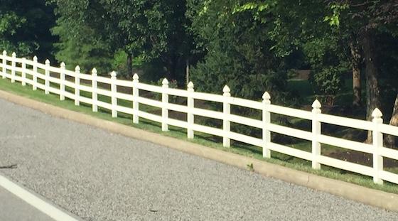 rv park white vinyl fence