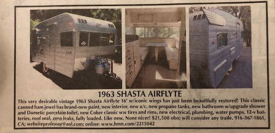 Shasta RV Ad