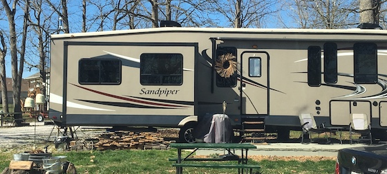 rv park with BMW